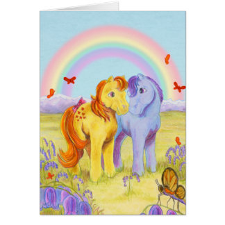 Pastel Pony Friends Greeting Card