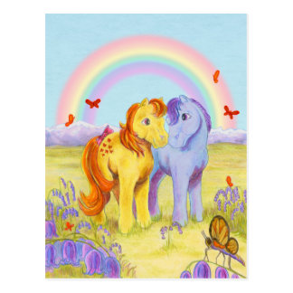 Pastel Pony Friends Postcard