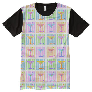 PASTEL POP ART MARTINIS All-Over-Print T-Shirt