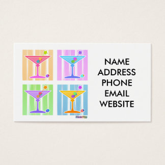 PASTEL POP ART MARTINIS BUSINESS CARD