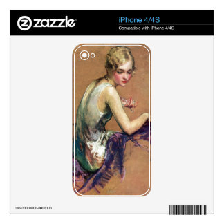 Pastel Portrait Decal For The iPhone 4S
