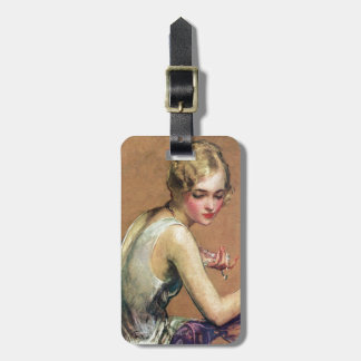 Pastel Portrait Tag For Luggage