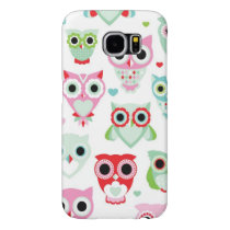pastel powder color owl background samsung galaxy s6 case