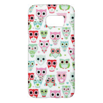 pastel powder color owl background samsung galaxy s7 case