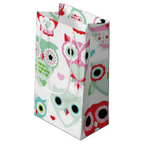 pastel powder color owl background small gift bag
