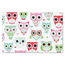 pastel powder color owl background tissue paper