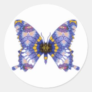 Pastel Prayers Butterfly Classic Round Sticker