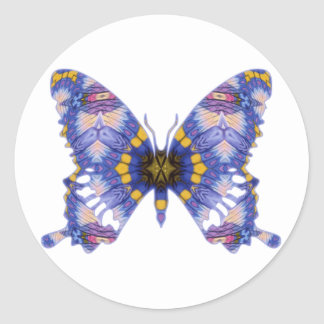 Pastel Prayers Butterfly Classic Round Sticker