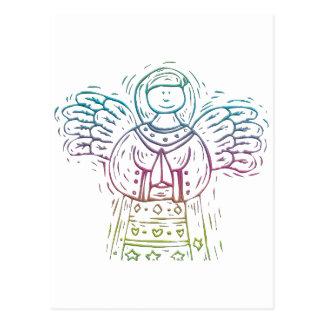 Pastel Praying Angel Postcard