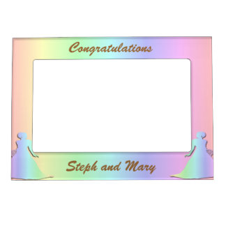 Pastel Pride Lesbian Wedding Gift Frame