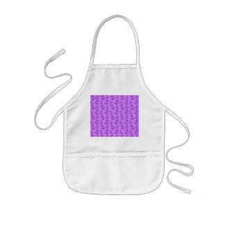 Pastel purple anchor pattern kids' apron