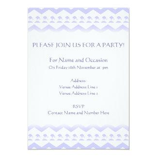 Pastel Purple Birds and Chevron Pattern Card
