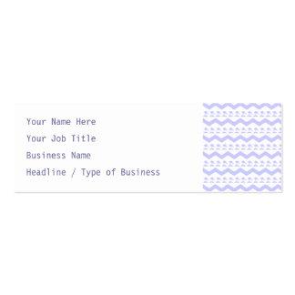 Pastel Purple Birds and Chevron Pattern Mini Business Card