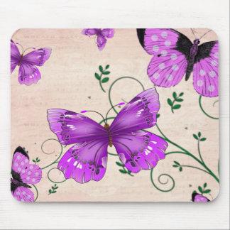 Pastel Purple Butterflies Mousepad
