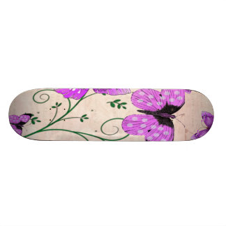 Pastel Purple Butterflies Skateboard