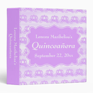 Pastel Purple Carriages Quinceanera Binder