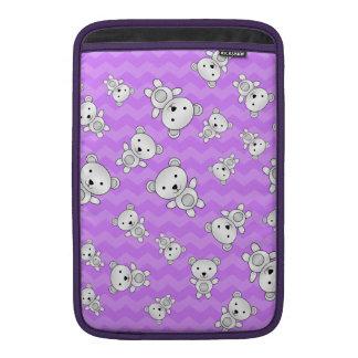 Pastel purple chevrons polar bears MacBook air sleeves