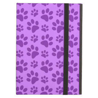 Pastel purple dog paw print iPad air cover