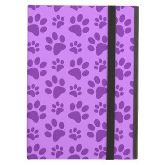 Pastel purple dog paw print iPad air covers
