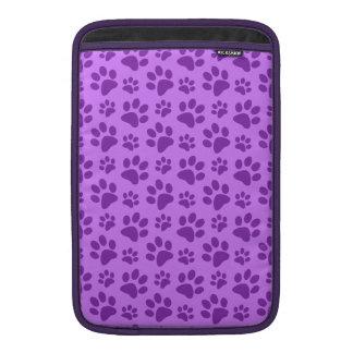 Pastel purple dog paw print sleeve for MacBook air