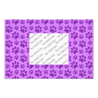 Pastel purple dog paw print photo print