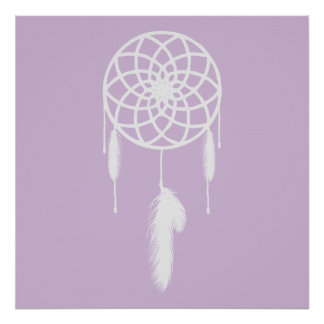 Pastel Purple Dream Catcher Posters