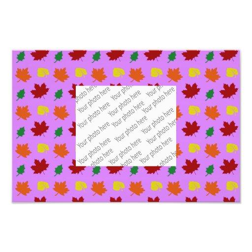 pastel purple fall leaves photographic print