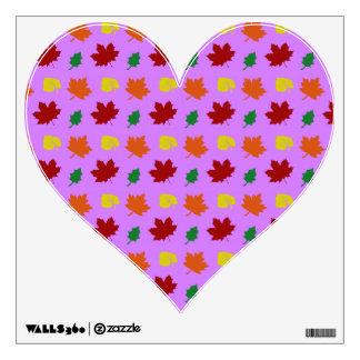 pastel purple fall leaves room stickers