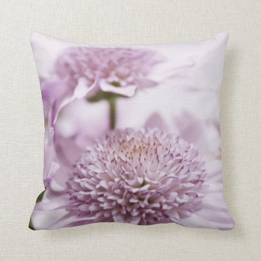 Lavender Flower Throw Pillow : Pastel Purple Flowers Throw Pillows Zazzle