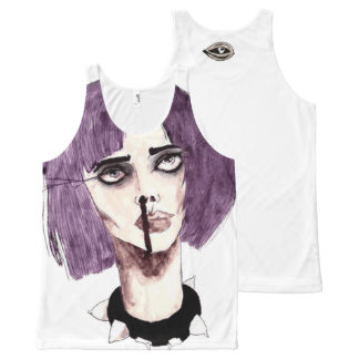 Pastel Purple Goth All-Over-Print Tank Top