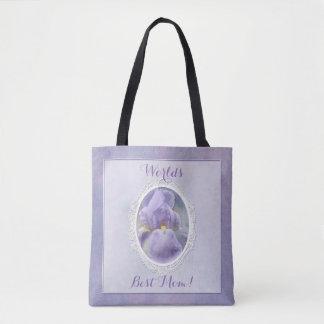 Pastel Purple Iris Mother's Day Tote Bag