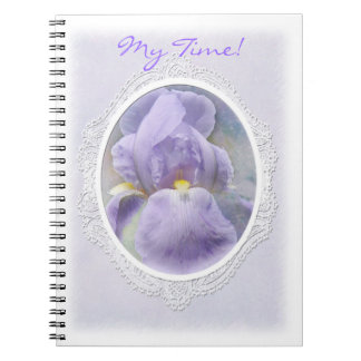 Pastel Purple Iris Notebook