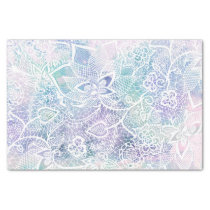 Pastel purple lavender watercolor floral pattern tissue paper
