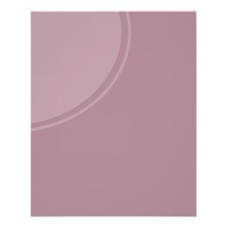 pastel purple mod circle flyer