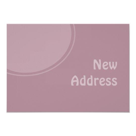 pastel purple mod New Address Card