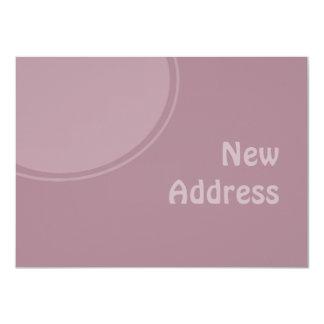 pastel purple mod New Address 4.5x6.25 Paper Invitation Card