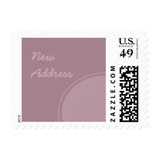 pastel purple mod New Address Postage Stamp