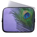 Pastel Purple Peacock Feather Still LIfe Computer Sleeve