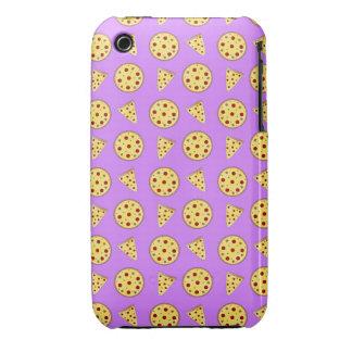 Pastel purple pizza pattern Case-Mate iPhone 3 cases