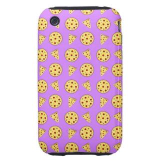 Pastel purple pizza pattern iPhone 3 tough case