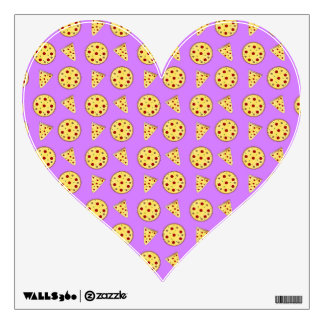 Pastel purple pizza pattern wall decal