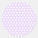 Pastel Purple Polka Dots Classic Round Sticker