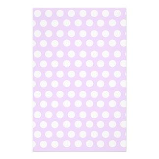 Pastel Purple Polka Dots Stationery