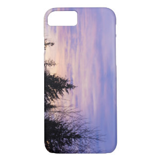 Pastel Purple Sunset Tree Silhouette Phonecase iPhone 7 Case