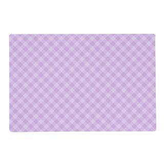 Pastel Purple Tartan Laminated Placemat