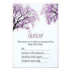 Pastel Purple Trees - RSVP Card 3.5