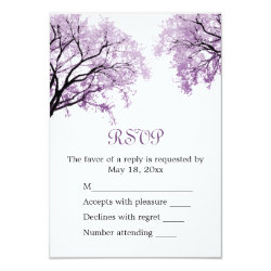Pastel Purple Trees - RSVP Card 3.5