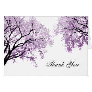 Pastel Purple Trees - Thank You Card