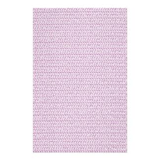 Pastel Purple Weave Pattern Image Stationery Design