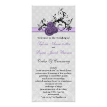 pastel purple Wedding program